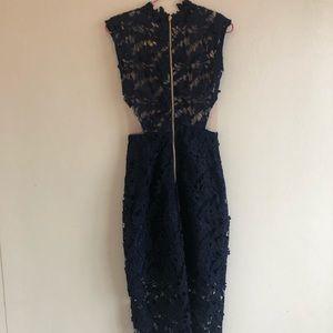 Bronx and Banco Dresses - Bronx and Banco blue lace dress